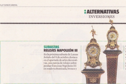 Alternativas y Inversiones – La Vanguardia 24-09-2017